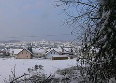 Kleinstadt im Schnee