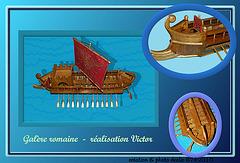 carte postale - galère romaine