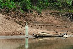 Fishing net at the Nam Ou bank