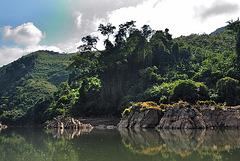 Nam Ou quiet part of the river