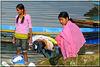 Jour de lessive (Lac de Pokhara)