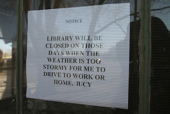 Magdalena, New Mexico, Library Announcement (5826)