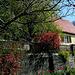Häuser und Gärten im Frühling