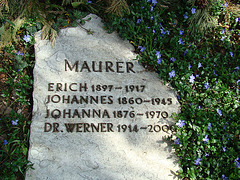 Grave on the cemetery of Biberach an der Riß, Germany
