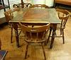 table et chaises de bar ancien