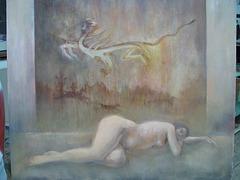 Dreaming Goguryo=Sonĝanta pri Goguryo=고구려를 꿈꾸며- Oil on canvas油彩 - 50x60cm - 0809