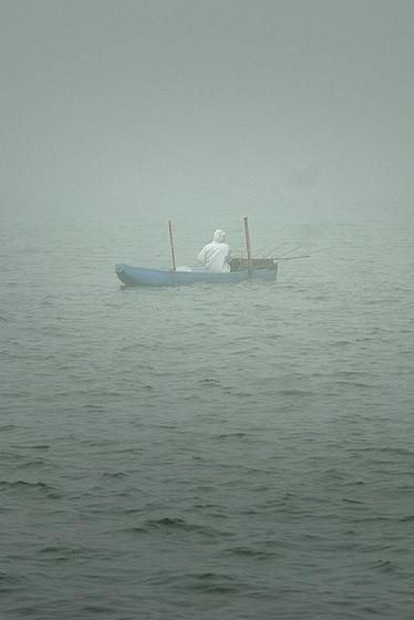 Fishing in the Bratan crater lake