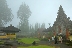 Temples complex in the mist