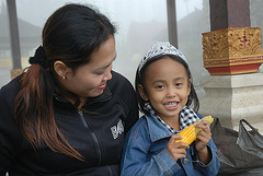 Balinese mother with her princess