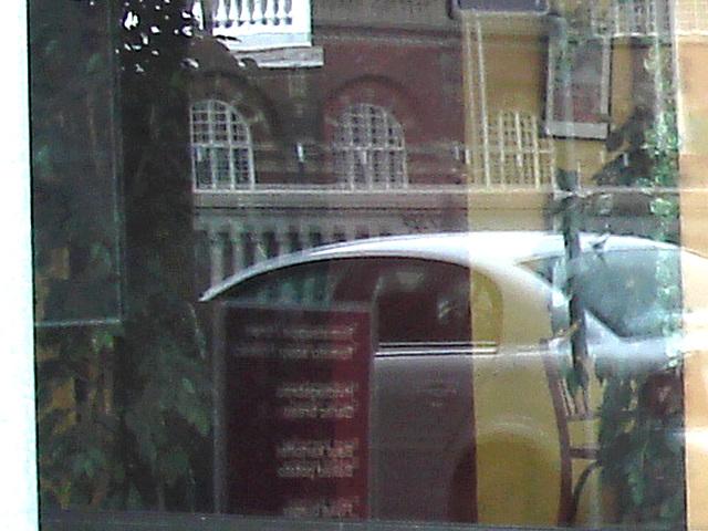 Astor pizza widow reflection /  Reflet Astorien de pizza -  Copenhague / Copenhagen - 20-10-2008