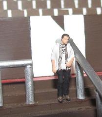 Ich im Modellbau - Millerntor-Stadion (im Maßstab 1:100)
