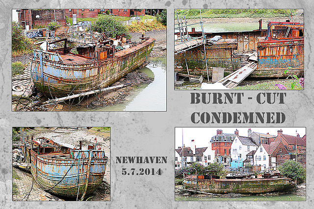 Burnt - cut - condemned - Newhaven - 5.7.2014