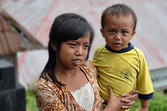 Bali Aga girl with her brother