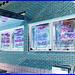 Pizza & Coca-cola  /  Portland, Maine  USA - 11 octobre 2009 - Négatif avec cadre bleu