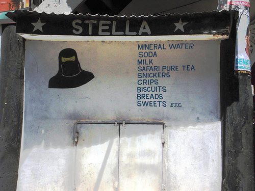 Stella Has A Shop With Her Picture On The Outside