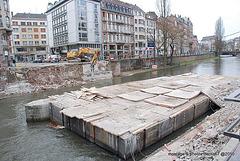 Pont de saverne Démolition pour  Reconstruction avec voies pour le tram