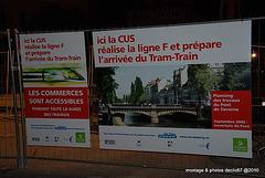 Pont de saverne Reconstruction avec voies pour le tram