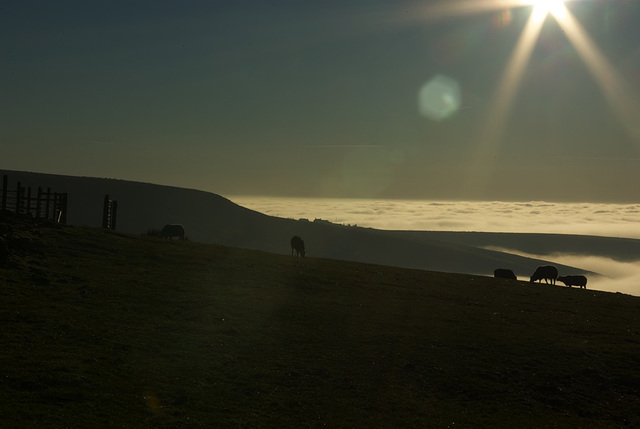Coombes Edge with Cloud Inversion