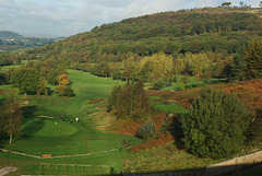 Shire Hill over Glossop Golf Course