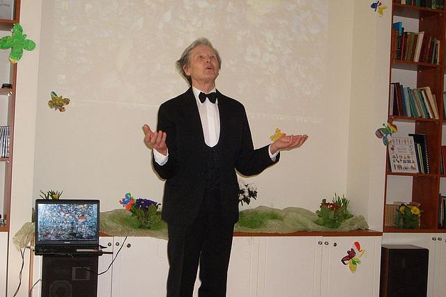 Jerzy Fornal deklamis poemo de Ludoviko Zamenhof aktoro de Nacia Teatro en VaRSOVIO