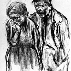 Paar, gezeichnet von Käthe Kollwitz
