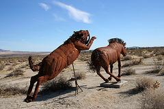 Galleta Meadows Estates Cat & Horse Sculpture (3634)
