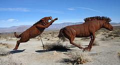 Galleta Meadows Estates Cat & Horse Sculpture (3635)