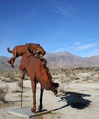 Galleta Meadows Estates Cat on Horse Sculpture (3645)