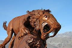 Galleta Meadows Estates Cat on Horse Sculpture (3646)