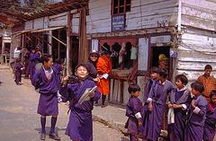 At the road in Wangdue Phodrang