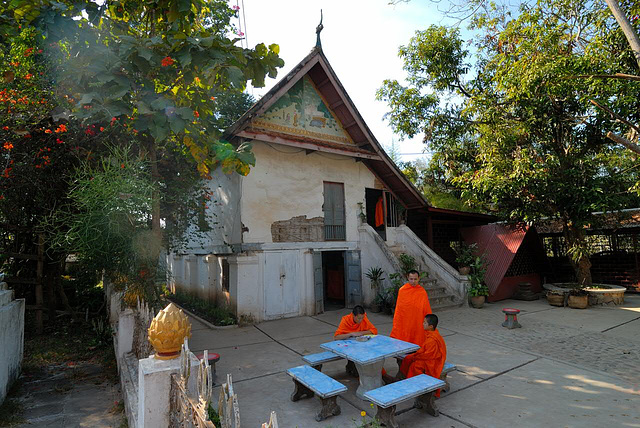 Monks housing at Wat Xieng Thong