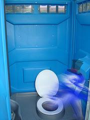 Création Krisontème /  Fantôme dans son intimité - Ghost in a blue intimate moment.