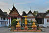 Three Buddha images at Wat Mai Suwannaphumaham
