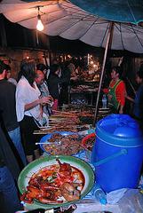 At the food market in Luang Prabang