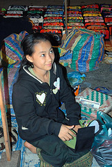 Blanket handicraft vendor girl