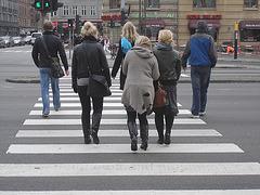 Falk Lauritsen Reiser blondes quatuor / Trous de manteaux en évidence