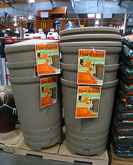 Rain Collection Barrels at Costco in Azusa (5648)