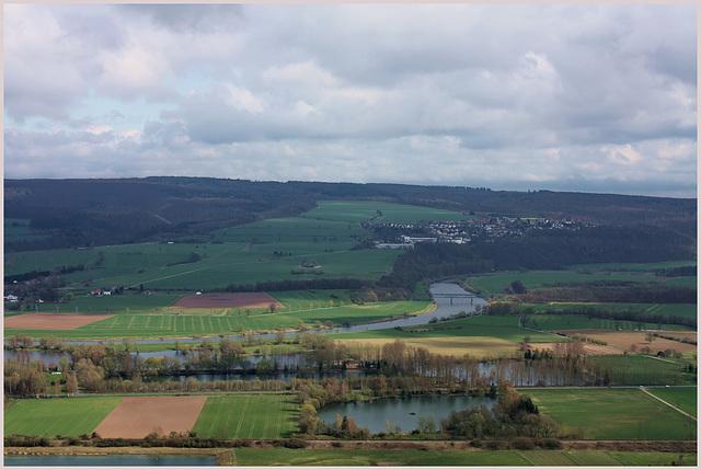 Blick auf die Weser vor Fürstenberg