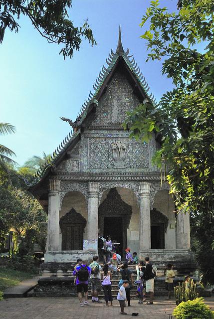 Wat Pa Houak at the Phu Si hill