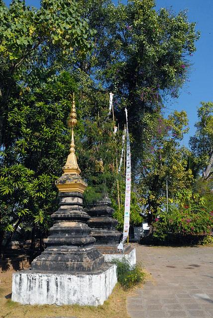 Chedi at the Wat Xieng Thong