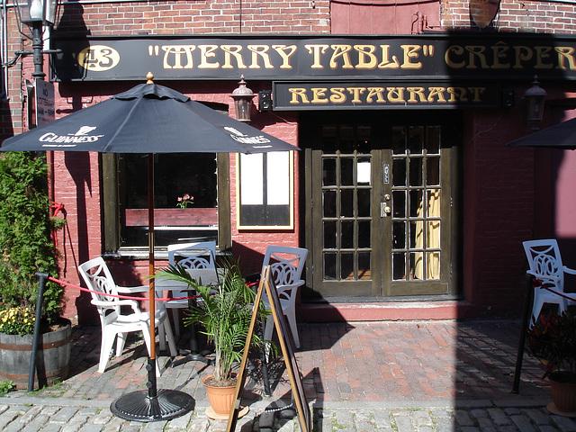Merry table restaurant / Portland, Maine USA.  11 octobre 2009