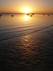 Bassin d'Arcachon au coucher du soleil
