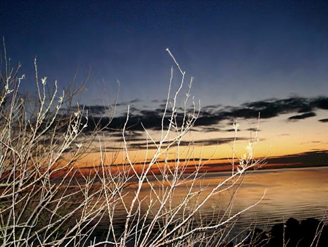 Gironde Taussat au coucher du soleil