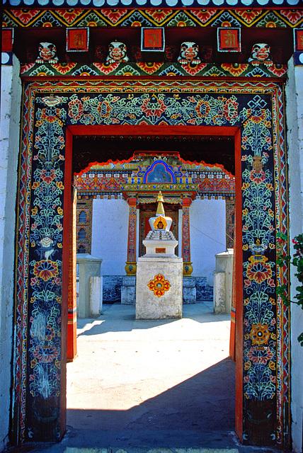 Entrance door into the Zangdopelri Temple