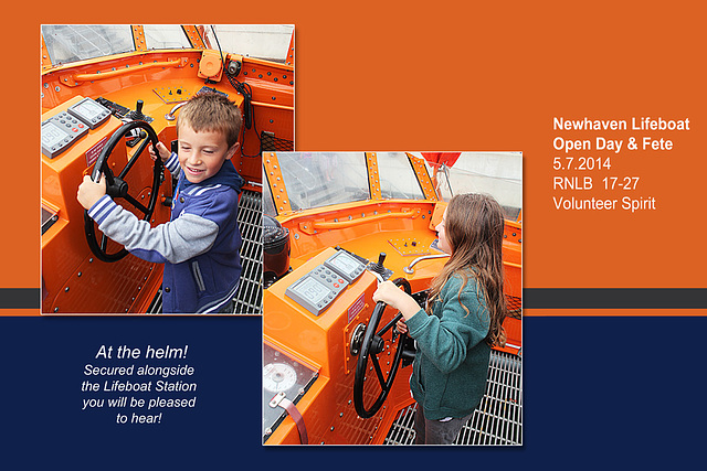 RNLB 17-27  At the helm - Newhaven Lifeboat Station Open Day - 5.7.2014