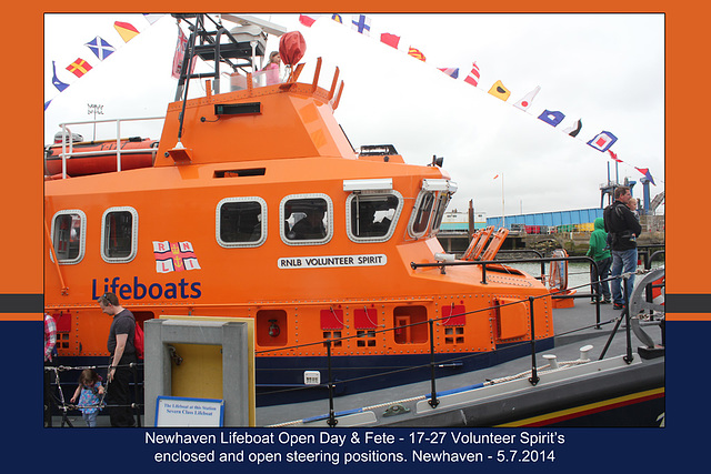 RNLB 17-27  steering positions - Newhaven Lifeboat Station Open Day - 5.7.2014