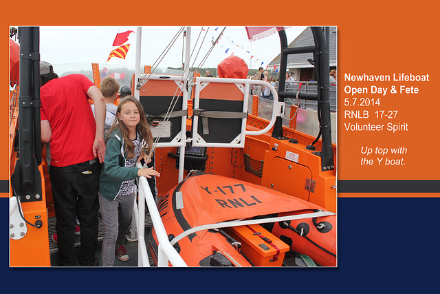 RNLB 17-27  Y boat - Newhaven Lifeboat Station Open Day - 5.7.2014