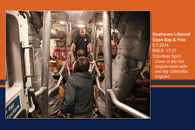 RNLB 17-27 engine room - Newhaven Lifeboat Station Open Day - 5.7.2014