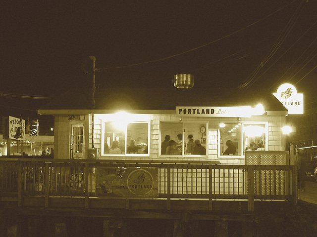 Portland lobster co. restaurant  /  Maine USA . 11-10-2009- Sepia