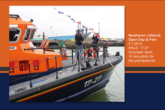 RNLB 17-27 snap for Granny - Newhaven Lifeboat Station Open Day - 5.7.2014